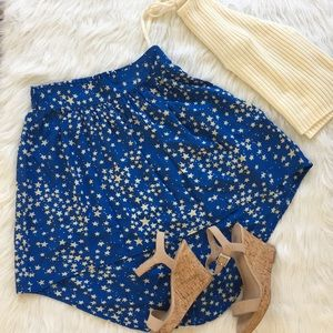 Starry Night Hi-Low Mini Skirt